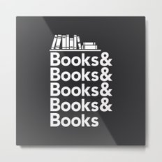 Books & Books & Books Metal Print