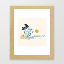 Minimalistic Summer II Framed Art Print