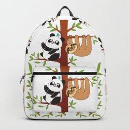 Cute Sloth & Panda Backpack