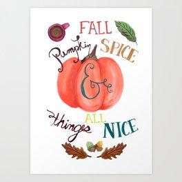 Pumpkin Spice Fall Art Print