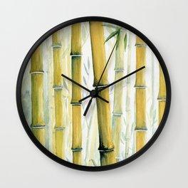Bamboo Trees Wall Clock