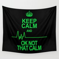 keep calm Wall Tapestries featuring Keep Calm by Alice Gosling