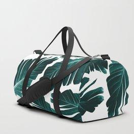 Tropical Banana Leaves Dream #1 #foliage #decor #art #society6 Duffle Bag