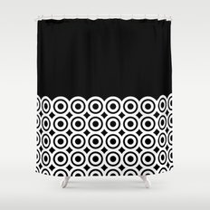 raspust (black/white) Shower Curtain