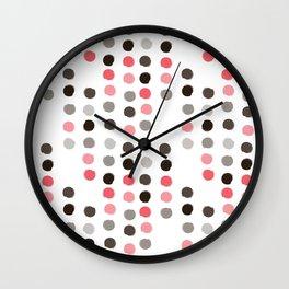 color polka dots Wall Clock