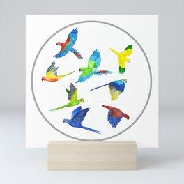 Parrots Mini Art Print