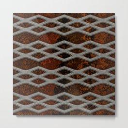 mesh on granite  Metal Print