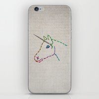 unicorn iPhone & iPod Skins featuring unicorn by gazonula