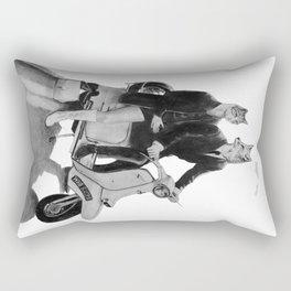This is a Modern Life Rectangular Pillow