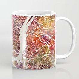New York Map Watercolor Coffee Mug