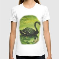 black swan T-shirts featuring Black Swan by OLHADARCHUK