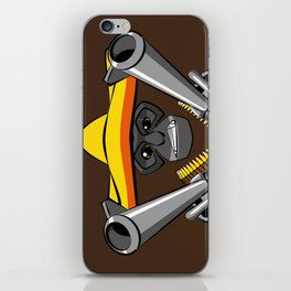 Gibbon Desperado with Guns iPhone Skin