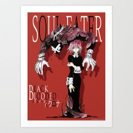 Black Blooded / Red Art Print