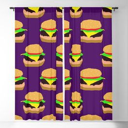 Burger Pattern Blackout Curtain