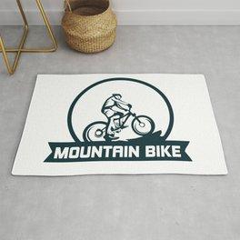 Mountain bike club logo Rug