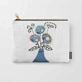 Quilling, flowers in vase 2 Carry-All Pouch