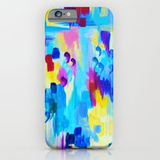 DONT QUOTE ME, Revisited - Bold Colorful Blue Pink Abstract Acrylic Painting Gift Art Home Decor  iPhone 6s Slim Case