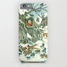 Winter Care Takers by Fritz Baumgarten  iPhone Case