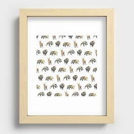 Forest Pattern Recessed Framed Print