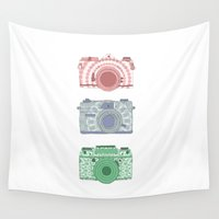 cheese Wall Tapestries featuring Say cheese by Fernanda Schallen