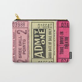 Admit One Vintage Ticket Stubs Carry-All Pouch