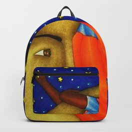 'Girl on the Moon with the Stars in her Hand' in the style of R. Morales (Artist Unknown) Backpack