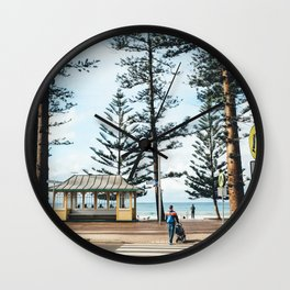 Strolling at the beach Wall Clock