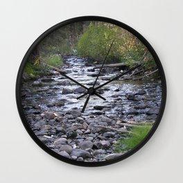Peaceful Walk Creek Bed Wall Clock