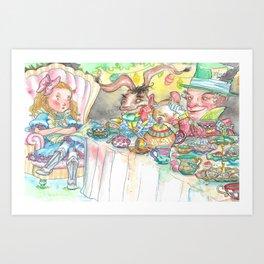 Alice's Mad Tea Party Art Print