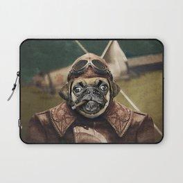 Pete the Pilot Pug Laptop Sleeve