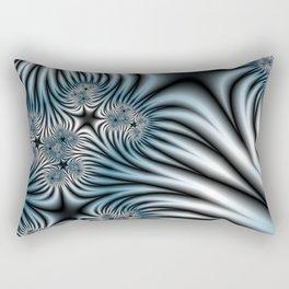 Blue Zebra Fractal Rectangular Pillow