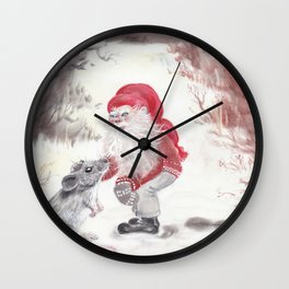 Gnome and mouse Wall Clock