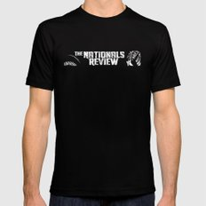Nationals Review Logo Mens Fitted Tee Black LARGE