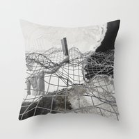 square Throw Pillows featuring square by MAGIC DUST