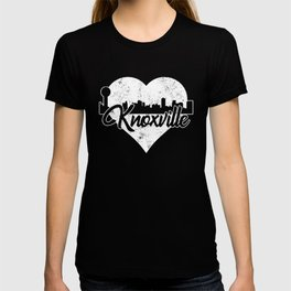 Retro Knoxville Tennessee Skyline Heart Distressed T-shirt