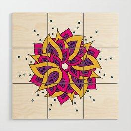 Lotus Mandala Wood Wall Art
