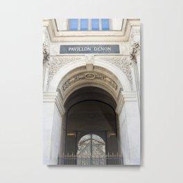 Louvre Reflection Metal Print