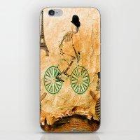 """tour de france iPhone & iPod Skins featuring Monsieur Bone and """" le  Tour de France """" by Ganech joe"""