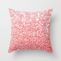 pink sparkle Throw Pillow