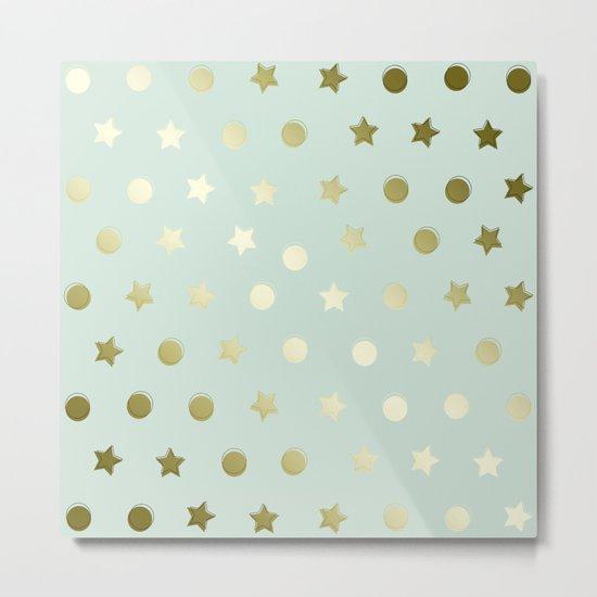 Gold Confetti Metal Print