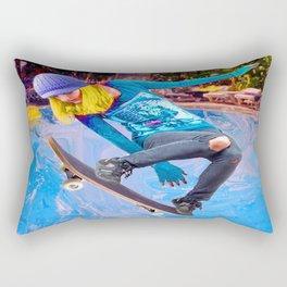 Skateboarding on Water Rectangular Pillow