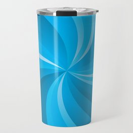 BLUE CURVES Abstract Art Travel Mug