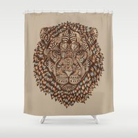 royal Shower Curtains featuring Lion (Royal) 2.0 by Norman Duenas