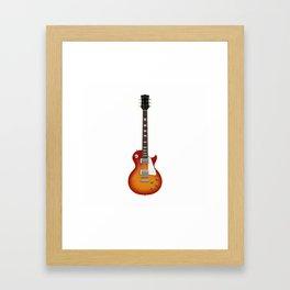 Sunburst Electric Guitar Framed Art Print