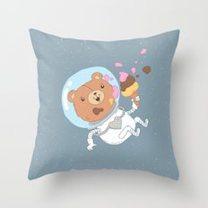 Space Bear Throw Pillow