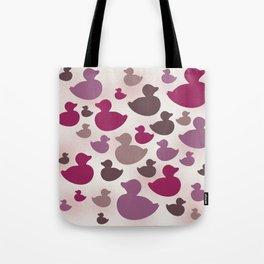 AL AQUA DUCK: Lipstick Tote Bag