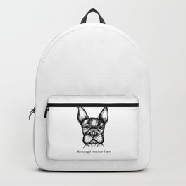 Resting Frenchie Face Backpack