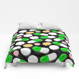 Deadly Pills Pattern Comforters