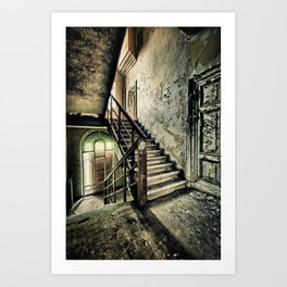 Neglected Stairway Art Print