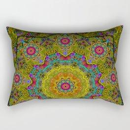 Golden mandala Rectangular Pillow